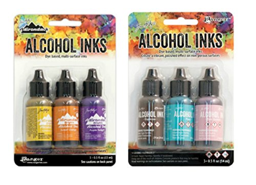 Tim Holtz Adirondack Alcohol Ink Bundle | Summit View and Retro Cafe Ink Set