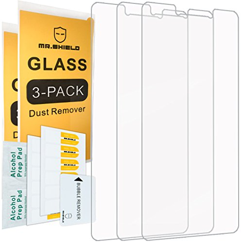 [3-Pack]- Mr.Shield for Huawei Honor 6X [Tempered Glass] Screen Protector [0.3mm Ultra Thin 9H Hardness 2.5D Round Edge] with Lifetime Replacement