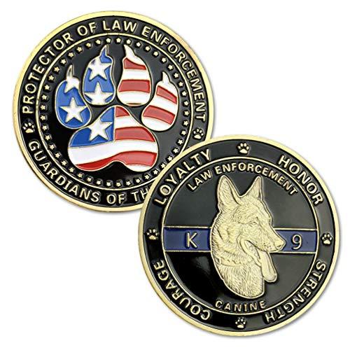 K9 Dog Law Enforcement Challenge Coin Canine Police Decoration