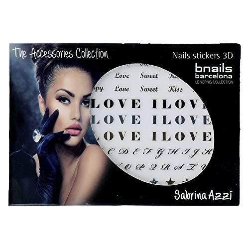 SABRINA AZZI Sabrina Bnails Deco Stickers I Love You (100), Estándar, Único