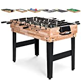 Best Choice Products 2x4ft 10-in-1 Combo Game Table Set for...