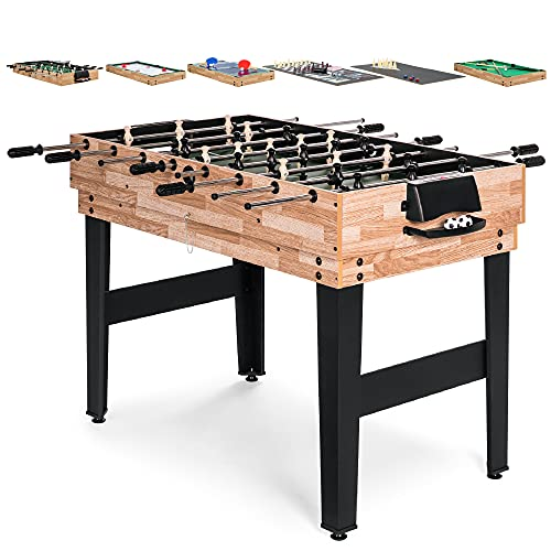 Best Choice Products 10-in-1 Game Table w/Foosball, Pool, Shuffleboard, Ping Pong, Hockey, and More