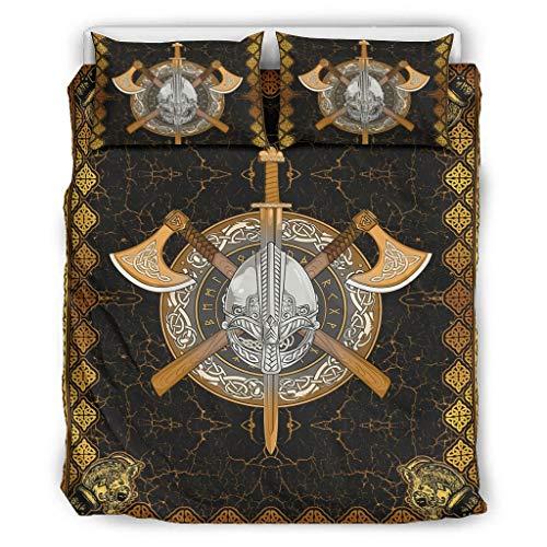 Huffle-Pickffle Viking Arms - Juego de cama, diseño limpio y manejable, sábana para aniversario de boda, 264 x 229 cm, color blanco