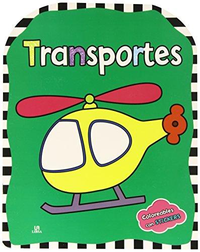 Transportes (Coloreables con stickers)