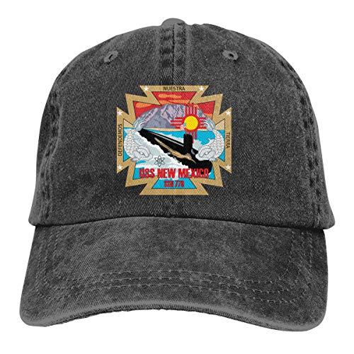 Gorra de béisbol ajustable de la marca Navy Submarine SSN 779 USS New Mexico