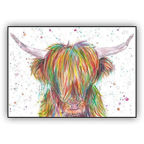 DIY Painting by numbers Highland Cattle Paint by Numbers for Adults and Kids DIY Oil Painting Gift Kits