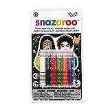 Snazaroo - Barras de pintura facial Halloween, set de 6