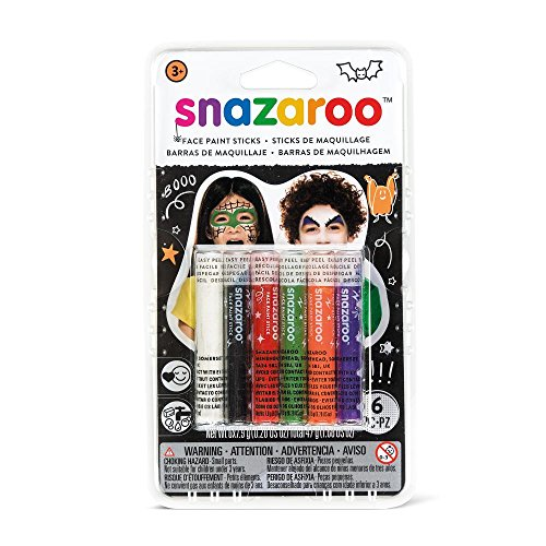 Snazaroo 1160603 Halloween Face Paint Sticks - Set of 6