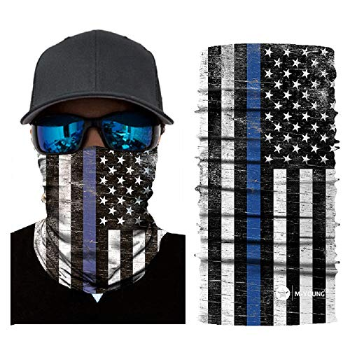 Skull Face Sun Mask Half,Bandanas,Neck Gaiter, Headwear, Headband for Fishing, Hunting,Yard Work