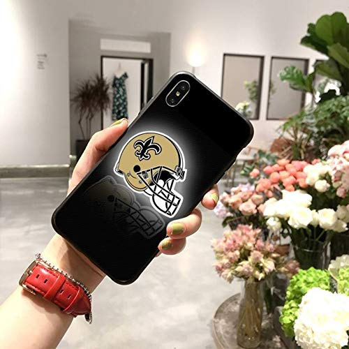 HUAI New Orleans Saints - Carcasa blanda para iPhone 11 Pro XS MAX 8 7 6 6S Plus X 5S SE XR (color: A7, material: para iPhone5C)