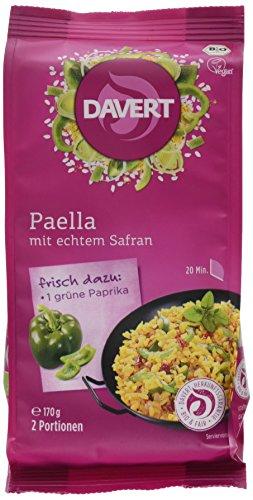 Davert Paella, mit echtem Safran, 6er Pack (6 x 170 g) - Bio