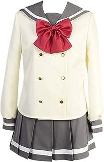 KCKSHOP LoveLive Sunshine Aqours Kanan Chika Ruby Sailor Dress Cosplay Costume Halloween School Uniform