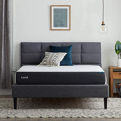 Lucid 8 Inch Gel Memory Foam Mattress Firm Feel Gel Infusion Hypoallergenic Bamboo Charcoal product image