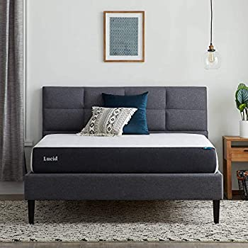 Lucid 8 Inch Plush Feel Gel Memory Foam Mattress