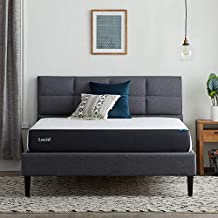 Lucid 8 Inch Gel Memory Foam-Mattress – Plush Feel – Gel Infusion – Hypoallergenic Bamboo Charcoal – Breathable-Cover