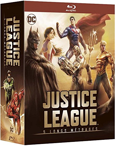 Justice League - 5 longs métrages: Le paradoxe Flashpoint + Guerre + Le Trône de l'Atlantide + Dieux et monstres + vs les Teen Titans [Francia] [Blu-ray]