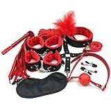 HUIJIE Peluche Kit de coqueteo de 10 Piezas de Ropa, Tobilleras, Accesorios de Vestir (Rojo y Negro)