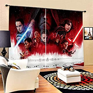 SIZOO - Curtains - Stars Wars Movies Character Collection Polyester Window Curtains Boys Girl Bedroom Living Room Decor Cu...