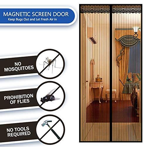 Magnetische hordeur, eenvoudig te installeren hordeur Magnetische deurhor, huisdiervriendelijke glasvezel schuifdeur, past op deurformaat tot 31