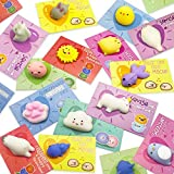 Kiddokids 28 Valentines Day Gift Cards with Cute Kawaii Mochi Squishy to Squeeze for Kids School Classroom Valentine's Exchange Greeting Cards