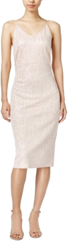 Bar III Metallic Slip Dress