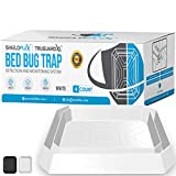 Bed Bug Trap — 4 Pack | TruGuard XL Bed Bug Interceptors (White) | Extra Large Bed Bug Traps for Bed Legs | Reliable Insect Detector, Interceptor, and Monitor for Pest Control and Treatment
