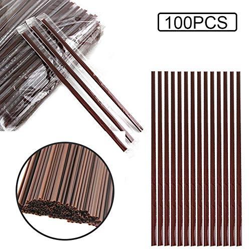 Cannucce confezionate singolarmente, confezionate singolarmente, realizzate in materiale PP per uso alimentare, 100 / scatola - 7,08 pollici di lunghezza