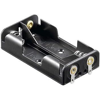 mit Anschlusskabel Bauform 1+1 10x Batteriehalter 2x Mignon AA R6