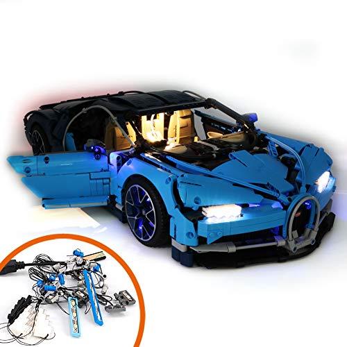 Moligh doll Licht Anzug für (Bugatti Chiron) Geb?Ude Block Modell - Led Licht Kit