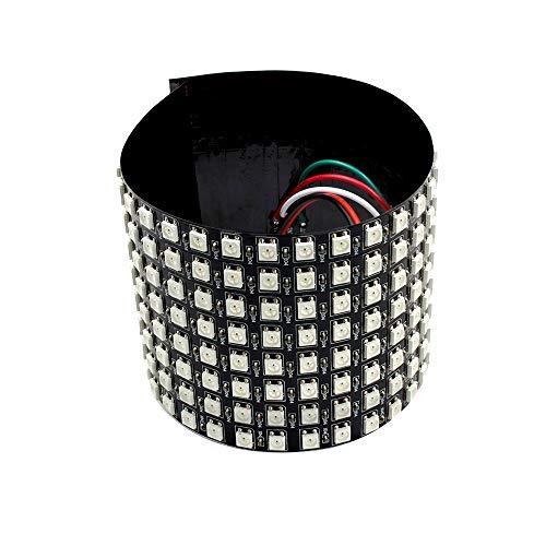 QPLKL Módulo electrónico 8 * 32cm WS2812B 256 Píxeles Digitales 5050 RGB Sueño For Colorear Programada LED Módulo De Gaza DC 5V