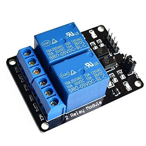 U/K interessantPraktisches Relaismodul 2-Kanal-5-V-Relaiskarte mit Optokoppler-Relaismodul-Erweiterungsplatine 1 PCS