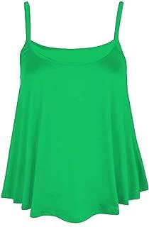 New Women's Ladies Sleeveless Strappy Swing CAMI Vest TOP