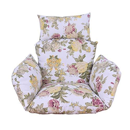 HUHAA Cojines para sillas de Columpio, sillas Colgantes Antideslizantes Gruesas Desmontables, Cojines de Asiento con Forma de Huevo, Respaldo con Almohada