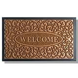 Extra Durable Doormat Outdoor (30x18) - Rubber Outdoor Doormat - Welcome Door Mat Outdoor - Front Door Mat - Back Door Mat - Doormat Indoor - Inside Door Mats - Entrance Door Mat - Doormat Rug…