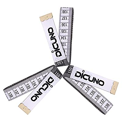 DiCUNO 60-Inch 1.5 Meter Soft Tape Measure Tailor Sewing Craft Cloth Medical Body Measurement Dieting Measuring Tape