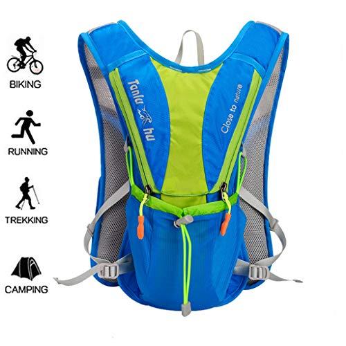 WUZHENG Marathon Running Vest, Randonnée Vélo Sac À Dos Hydratation Antifuite,Blue
