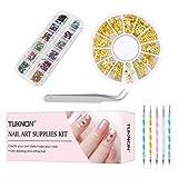 Nail Art Kit, Nail Art Design Set, Nail Art Design Kit di Decorazione per Unghie, Unghie N...
