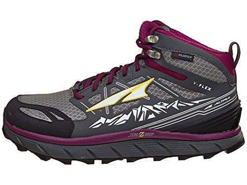 Altra Footwear Women's Lone Peak 3.0 Mid Neoshell Trail Running Shoe,Gray/Purple