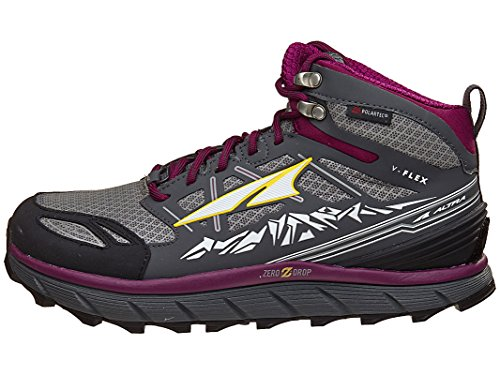ALTRA Women's Lone Peak 3 Mid Neoshell Trail Running Shoe, Gray/Purple - 6 M US