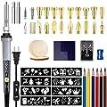62pcs Wood Burning Kit, Professional Wood Burner Pen Tool, Creative Tool Set Adjustable Temperature WoodBurner for Embossing/Carving,Suitable for Beginners,Adults,Kids