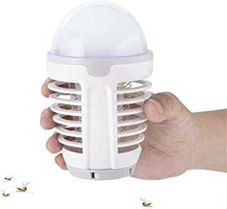 Lámpara Antimosquitos Exterior LED Camping Lampara 2 en 1 Noche Eléctrico Mosquitos Killers Linterna Portátil USB Recargable para Acampar Dormitorio Salón Cocina Despacho