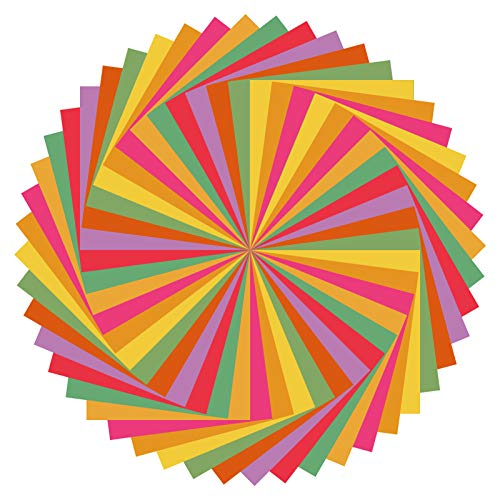 FRIUSATE 48 hojas Papel para papiroflexia,Papel Origami in 12 Colores, Doble Cara Papel,Papel de Origami Set para niños y adultos,Origami para proyectos de arte y manualidades