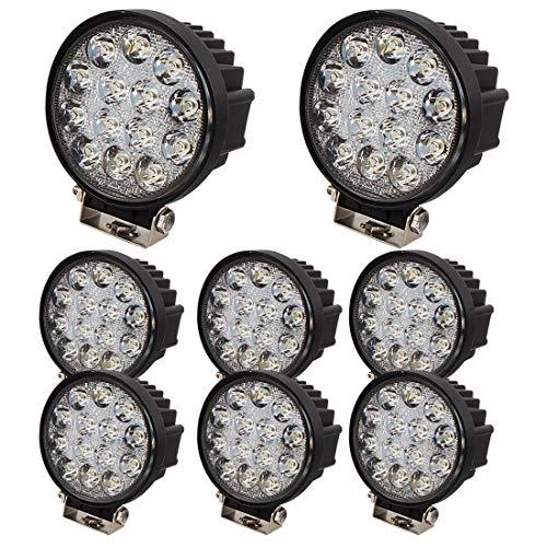 Brightum - LED-Spot für Bauarbeiten, den Außenbereich, Lkws, Flutlicht, rund, 12V, 24V, schwarz 42.00W, 24.00V