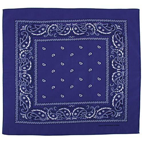 bandana, coton, 55 x 55 cm, Couleur:blau/blue