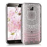kwmobile Huawei G8 / GX8 Hülle - Handyhülle für Huawei G8 / GX8 - Handy Case in Indische Sonne Design Rosa Weiß Transparent