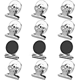Grtard 12pack Fridge Magnets Refrigerator Magnets Magnetic Clips Heavy Duty Detailed List Display Paper Fasteners on Home& Office& Teaching