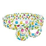 Intex 59469NP - Piscina, flotador y pelota de 51 cm, 132 x 28 cm, 248 litros