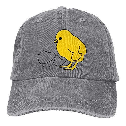 JIMSTRES Baby Chicken Burning Denim Hat Adjustable Men Funny Baseball Cap