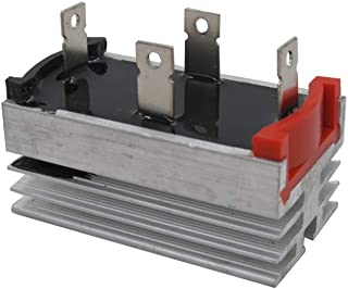 Taiss / 50A 1000V Single Phase Aluminum Heatsink Diode Bridge Rectifier (Warranty 1 Years) QL50A
