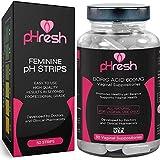pHresh Boric Acid Suppositories & Vaginal pH Test Strips Bundle